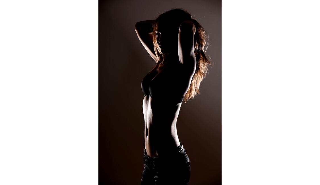 erotische Fotos, Studio-Aufnahme